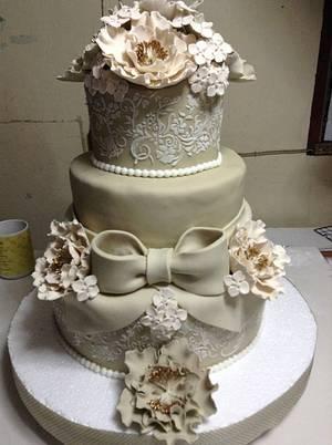Wedding cake - Cake by cakesbytats