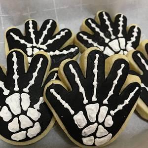 Skeleton Sugar Cookies - Cake by Nevia D. Giles - Platinum Cake Designs
