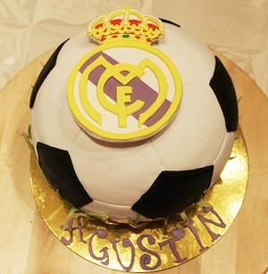 Tarta balon de futbol - football ball cake  - Cake by Machus sweetmeats