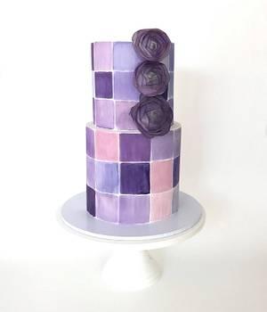 Purple Tiles - Cake by Sweet Tiers - Helena Kastanis