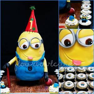 Minion Birthday - Cake by Flourbowl Cakes
