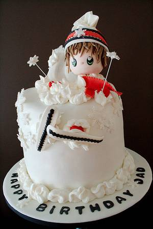 The Sugar Nursery's Ski Adventure Cake - Cake by The Sugar Nursery - Cake Shop & Imaginarium