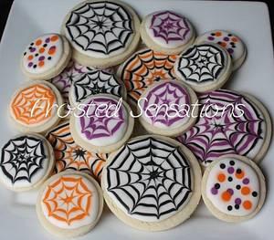 spiderweb cookies - Cake by Virginia