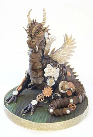 Dylan the Steampunk Dragon - Cake by Totally Sugar by Jacqui Kelly
