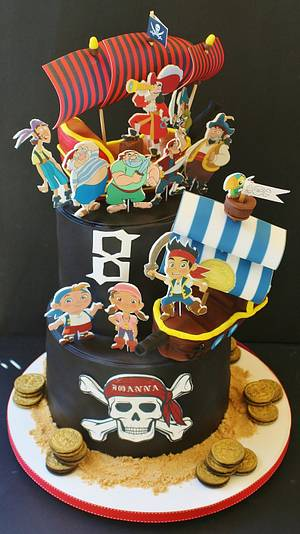 Jake and the Neverland pirates cake - Cake by WhenEffieDecidedToBake