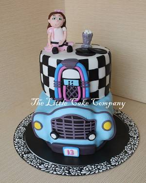 50's theme cake - Cake by The Little Cake Company