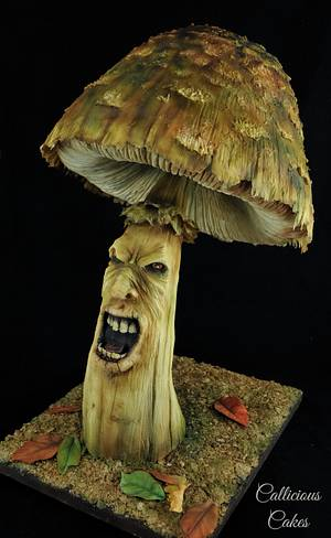 Shouting Toadstool - Twisted Sugar Artists - Cake by Calli Creations