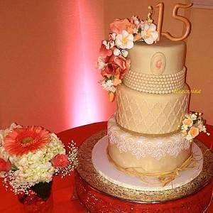 Quincinera Cake - Cake by Tinycusina