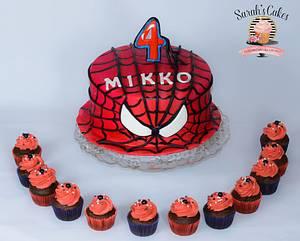 SpiderMan Cake  - Cake by Sarah's Cakes