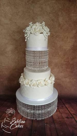 Wedding flowers cake - Cake by Zaklina