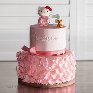 Sakura Hello Kitty Cake - Cake by Heidi