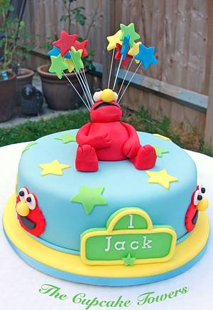 Let's Go To Sesame Street, Elmo! - Cake by Glenys Talbot