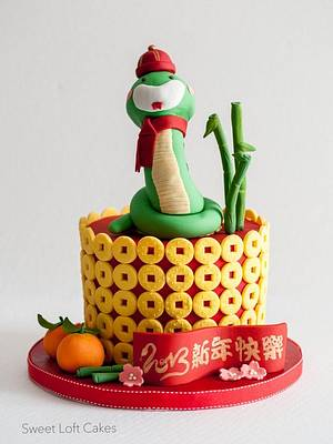 Chinese New Year Cake - Year of the Snake 2013 - Cake by Heidi
