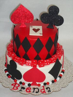 Vegas themed birthday - Cake by Kim Leatherwood