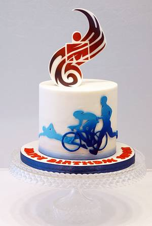 Triathlon Ironman cake - Cake by Svetlana Petrova