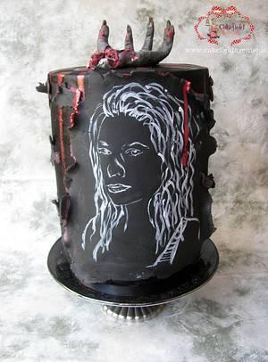 ANDREA -THE WALKING DEAD ( The Baking Dead Collaboration) - Cake by Agatha Rogowska ( Cakefield Avenue)