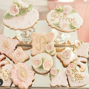 Flowers cookies - Cake by Claudia Smichowski