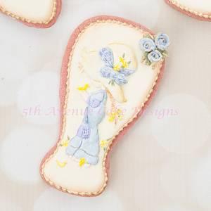 Vintage Sarah Kay Easter Cookies - Cake by Bobbie