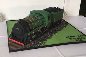 All aboard - vintage steam train cake - Cake by Maria-Louise Cakes