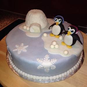 Igloo-Penguin-Cake - Cake by Monika Klaudusz