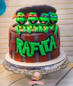 Ninja Turtle Cake - Cake by Sarah's Cakes