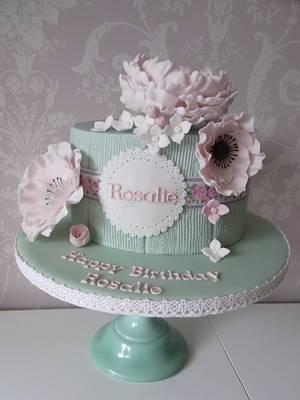 Vintage Flowers..x. - Cake by Lulu Belles Cupcake Creations