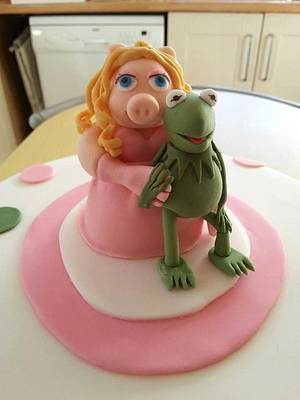Miss Piggy and Kermit Cake - Cake by Cherish Bakery