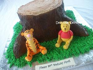 Winnie and Tigger - Cake by DeliciousDeliveries