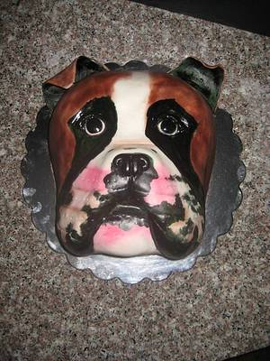 Boxer doggy - Cake by Norma Angelica Garcia