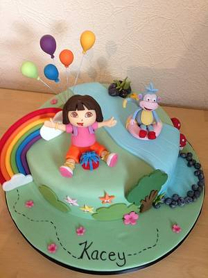 Dora the explorer cake - Cake by Cakes by Kirsty