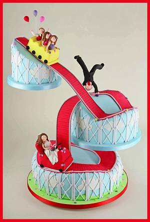 The Rollercoaster Ride - Cake by Sandra Monger