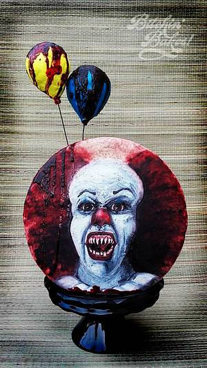 Pennywise from IT - Cake by Sharon Fitzgerald @ Bitchin' Bakes