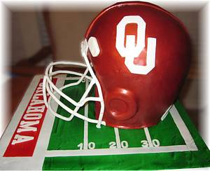 OU Football Helmet - Cake by Geelicious Confections