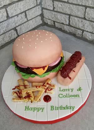 Hamburger Cake - Cake by Enza - Sweet-E