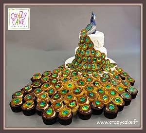 Peacock Cake - Cake by Crazy Cake