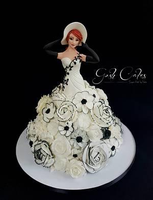 Genevieve Doll Cake - Cake by GoshCakes