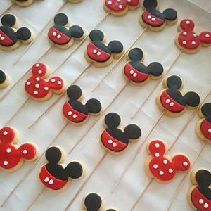 minnie&mickey cookies - Cake by PastaLaVistaCakes