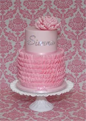 Ruffled Bling Birthday Cake - Cake by CakeAvenue