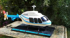 3D Helicopter with spinning propellors cake - Cake by Custom Cake Designs