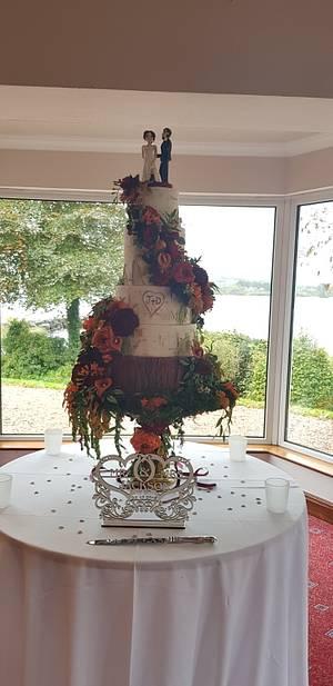 Autumn floral cascade - Cake by MySugarFairyCakes