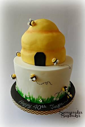 Beehive Cake - Cake by Spongecakes Suzebakes