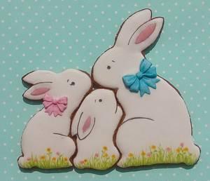 Easter bunny family - Cake by Snezana