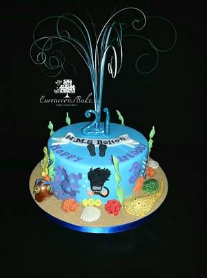 21st Scuba Diver Cake - Cake by CurvaceousBakes