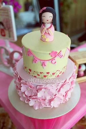 Kokeshi Doll Cake - Cake by Ling KittyBakes