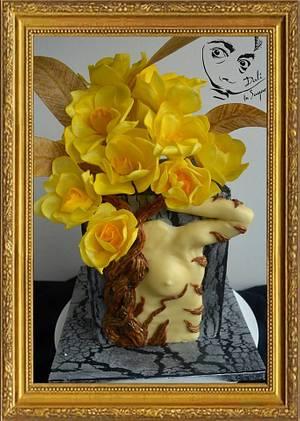 Surrealist flowers - Dali in sugar - Cake by Paula Rebelo