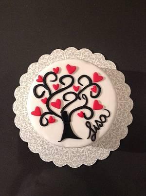 Love tree cake - Cake by Eleonora Del Greco