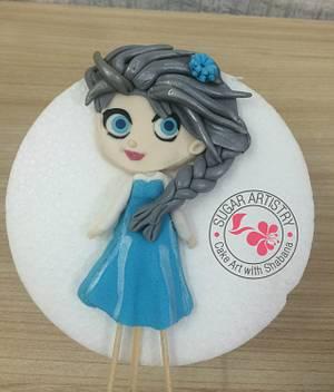 Cartoon Elsa - Cake by D Sugar Artistry - cake art with Shabana