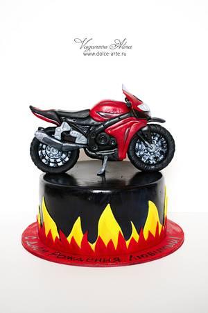 Cake for biker - Cake by Alina Vaganova