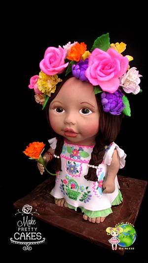 Little Mexican girl sugar doll - Cake by Make Pretty Cakes
