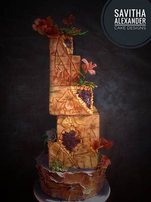 Chiselled in stone - Cake by Savitha Alexander